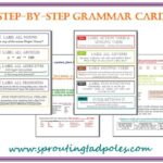 Step-by-Step Grammar cards & Memory Work Cards by sproutingtadpoles.com