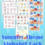 Summer Theme Alphabet Pack by Sprouting Tadpoles freebie